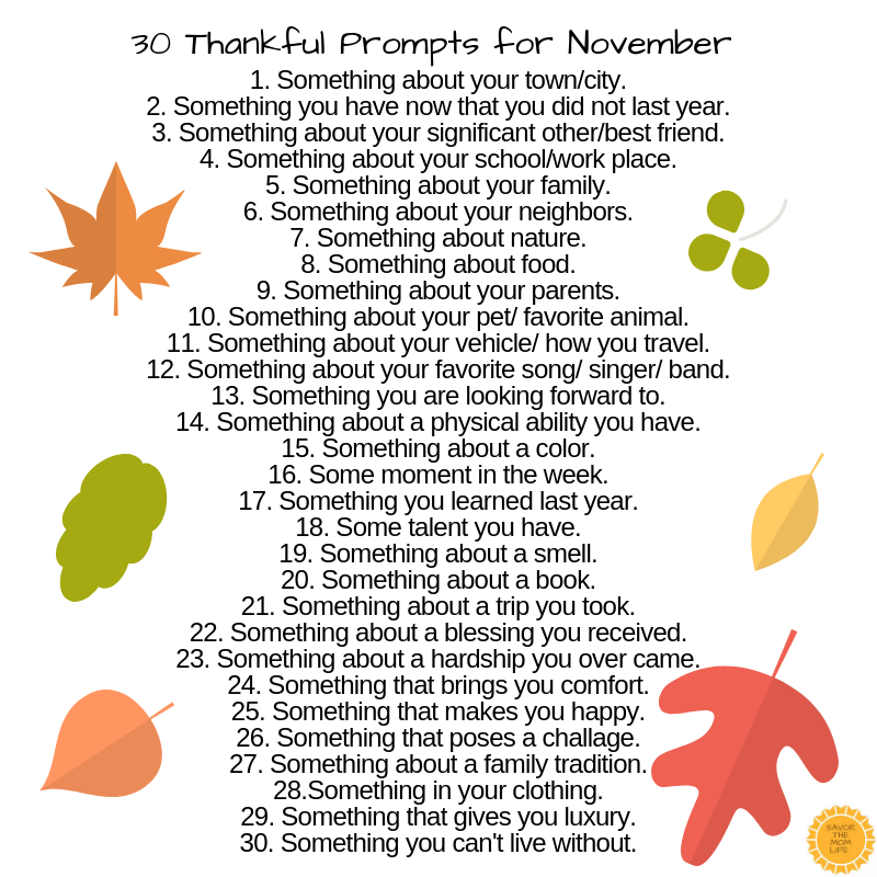30 Thankful Prompts
