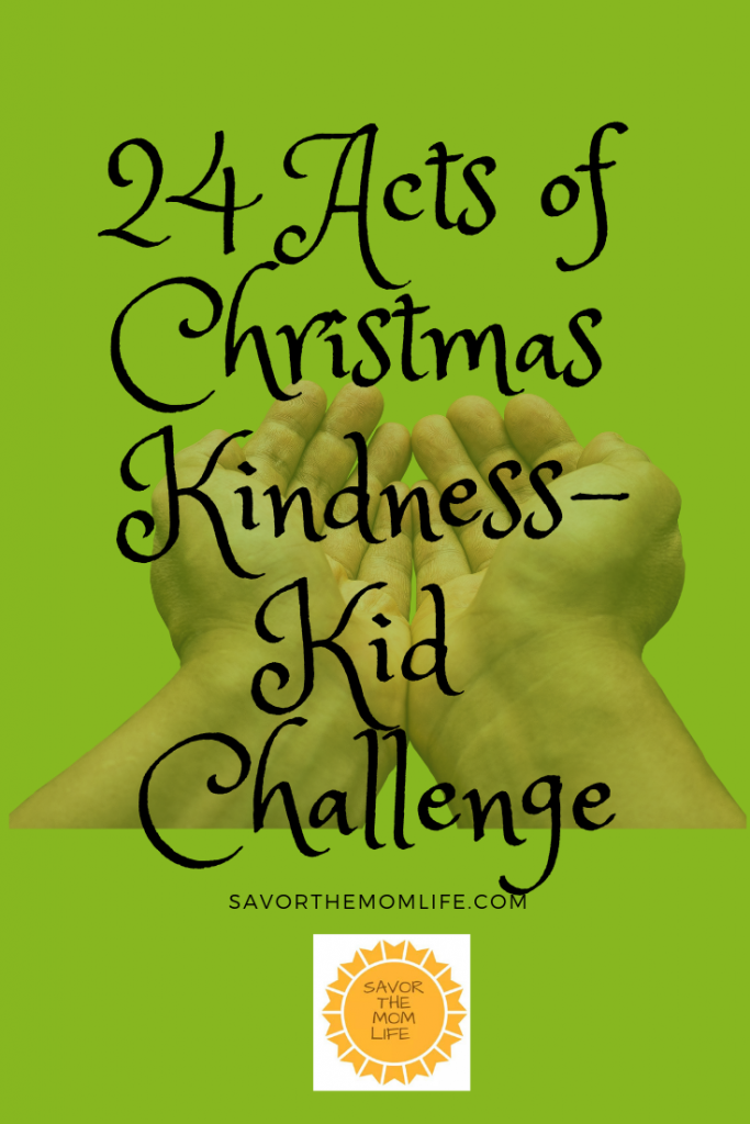 24 Acts of Christmas Kindness- Kid Challenge
