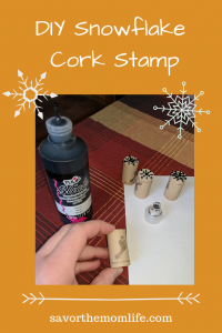 DIY Snowflake Cork Stamp
