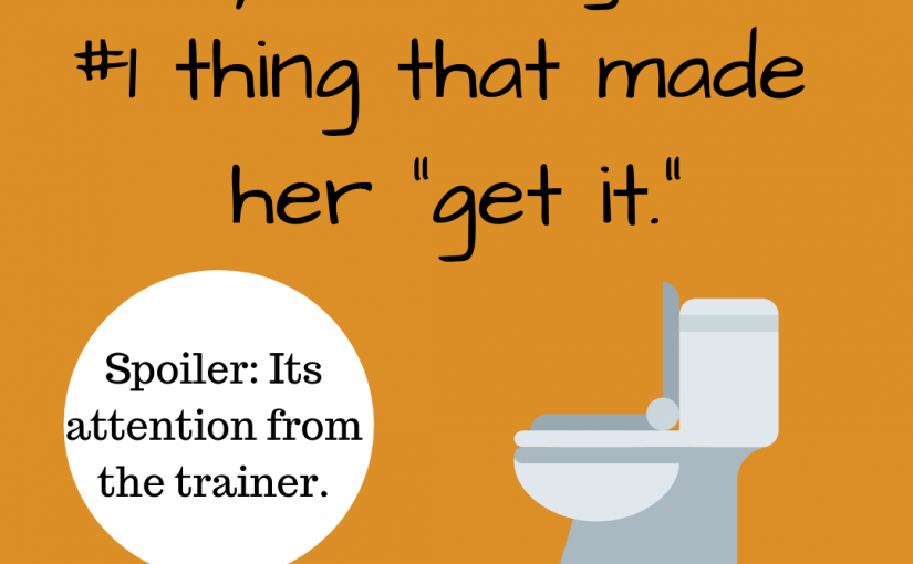 """Potty Training- The #1 thing that made her """"get it""""."""