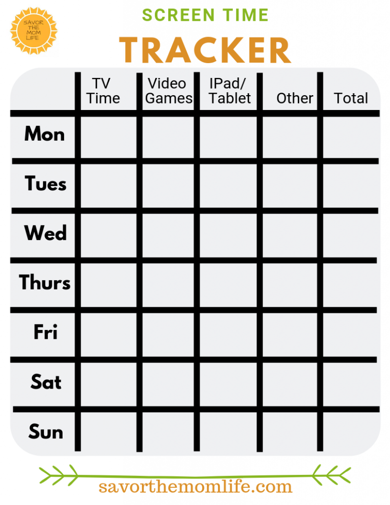 Screen Time Weekly Tracker
