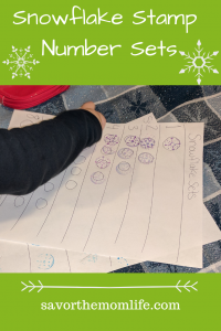 Snowflake Stamp Number Sets