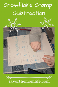 Snowflake Stamp Subtraction