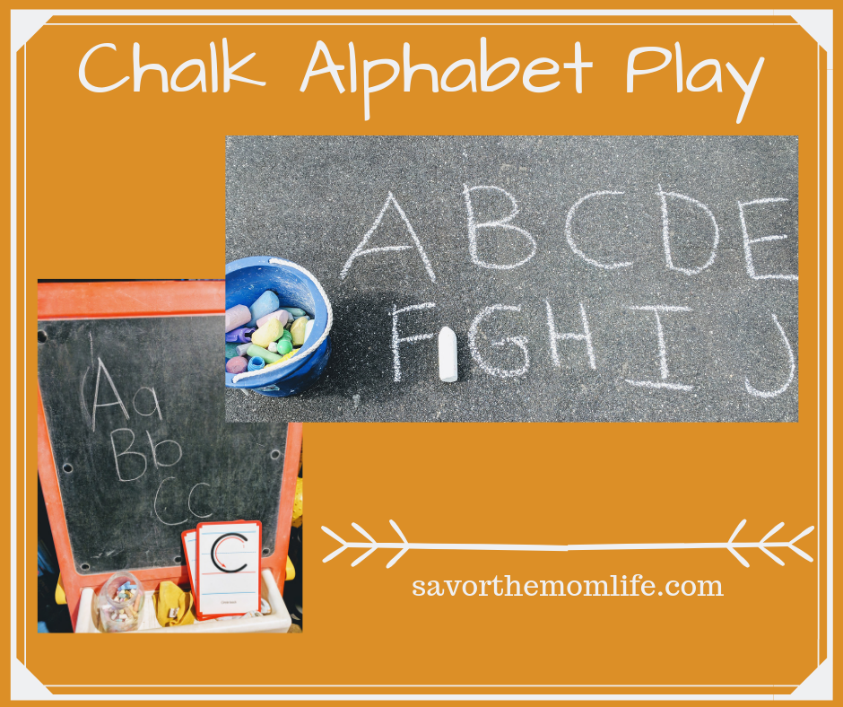 Chalk Alphabet Play -  Fun Ways to teach the alphabet to kids