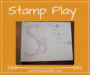 Stamp Play-  Fun Ways to teach the alphabet to kids