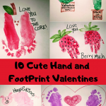 10 Cute Hand and Foot Print Valentines