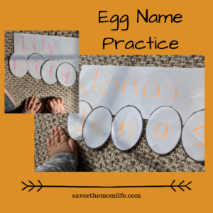 Egg Name Practice- Easter Activities for Kids