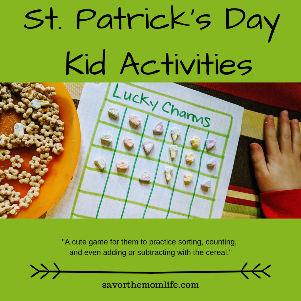 St. Patrick's Day Kid Activities- Lucky Charm Sorting.