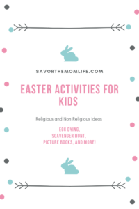 Easter Activities for Kids- Religious and Non Religious Ideas