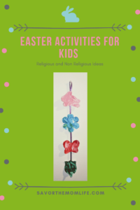 Easter Activities for Kids- Silhouette Painting, Non-Religious Idea.