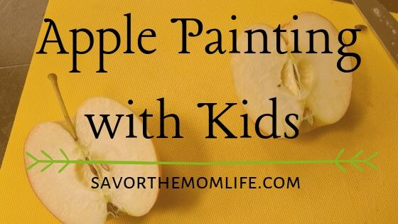 Apple Painting with Kids