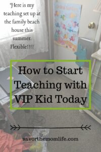 Here is my set up at the family beach house this summer. VIPKid Classroom.