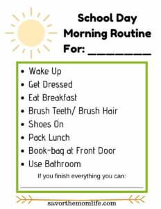 School Day- Morning Routine