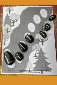 Painted rock name game printable.