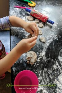 Kid playing with Air Dry Clay