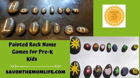 Painted Rock Name Games for Pre-K Kids