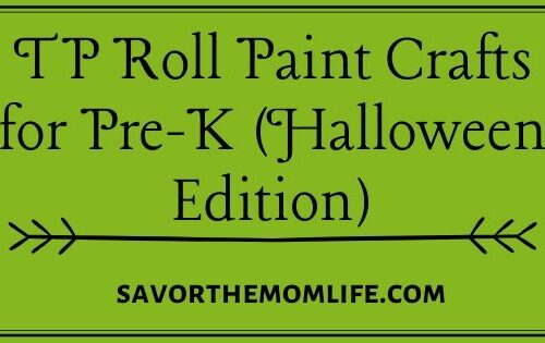TP Roll Paint Crafts for Pre-K (Halloween Edition)