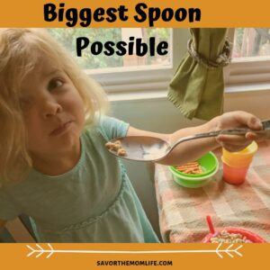 Biggest Spoon Possible for Breakfast.