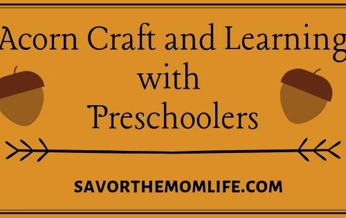 Acorn Craft and Learning with Preschoolers