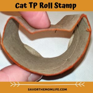 Cat TP Roll Stamp  TP Roll Paint Crafts for Pre-K (Halloween Edition)