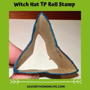 Witch Hat TP Roll Stamp TP Roll Paint Crafts for Pre-K (Halloween Edition)