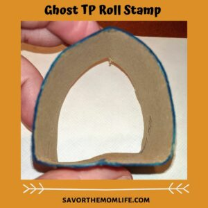 Ghost TP Roll Stamp TP Roll Paint Crafts for Pre-K (Halloween Edition)
