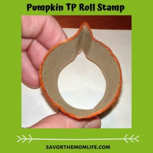 Pumpkin TP Roll Stamp TP Roll Paint Crafts for Pre-K (Halloween Edition)