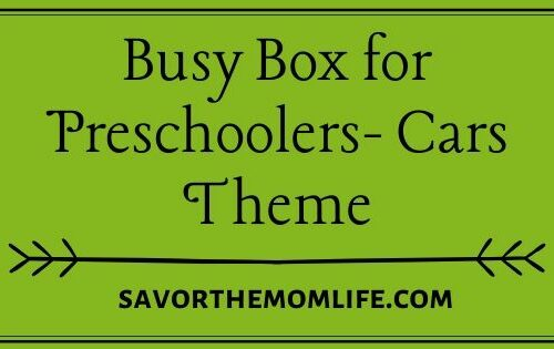 Busy Box for Preschoolers- Cars Theme