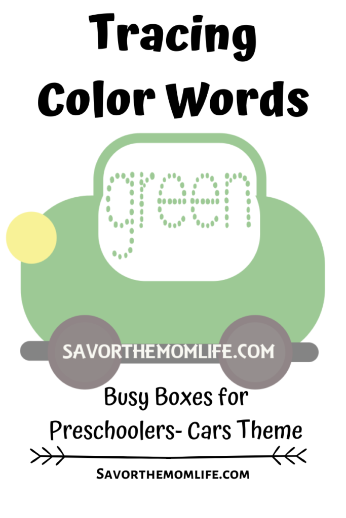 Tracing Color Words