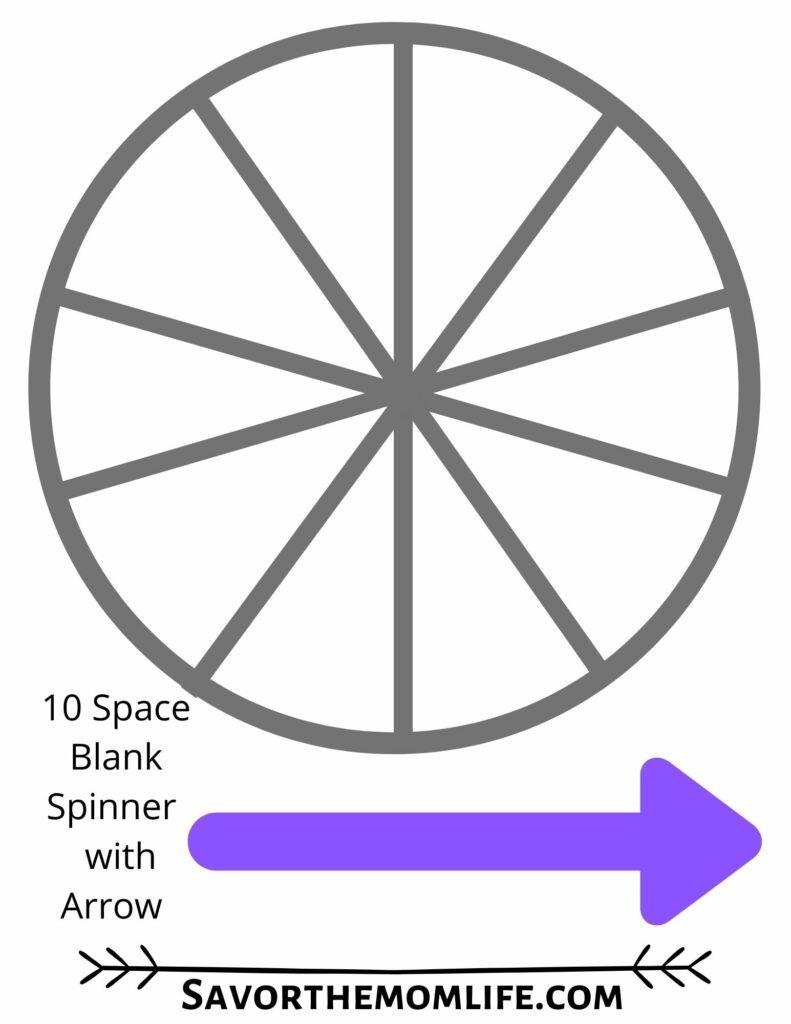 10 Space Blank Spinner