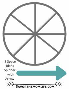 8 Space Blank Spinner