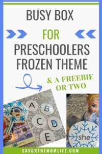 Busy Box for Preschoolers Frozen Theme