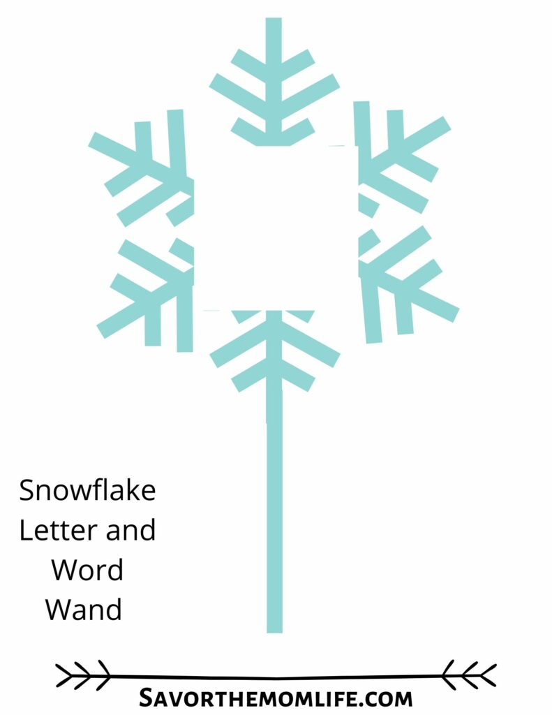Snowflake Letter Wand