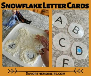 Snowflake Letter Cards