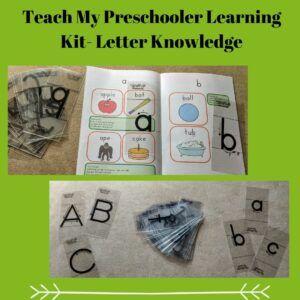 Teach My Preschooler Learning Kit- Letter Knowledge