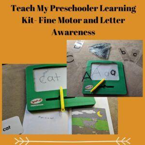 Teach My Preschooler Learning Kit- Fine Motor and Letter Awareness