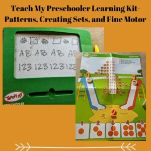 Teach My Preschooler Learning Kit- Patterns, Creating Sets and Fine Motor