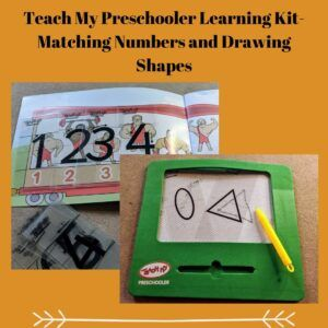 Teach My Preschooler Learning Kit- Matching Numbers and Drawing Shapes