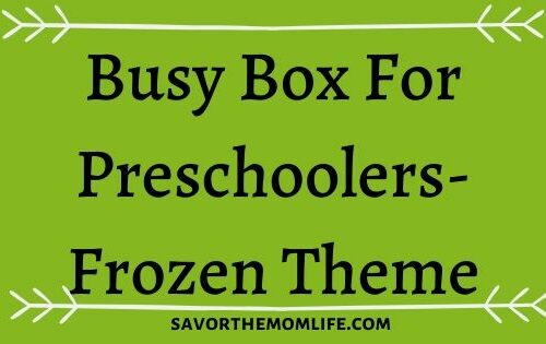 Busy Box for Preschoolers- Frozen Theme