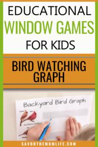 Educational Window Games for Kids. Bird Watching Graph