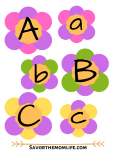 Flower Alphabet Flash Cards