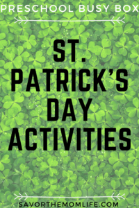 St. Patrick's Day Busy Box Activities for Preschoolers