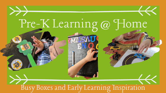 Pre-K Learning at Home. Busy Boxes and Early Learning Inspiration.