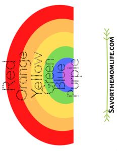 Rainbow Color Word Tracing
