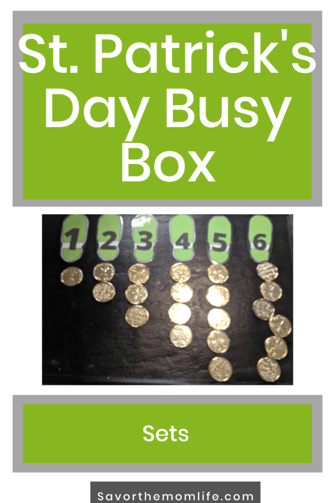 St. Patrick's Day Busy Box. Creating Sets