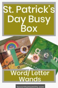 St. Patrick's Day Busy Box- Word/ Letter Wands