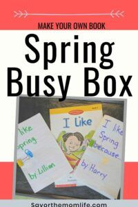 Make Your Own Book. Spring Busy Box