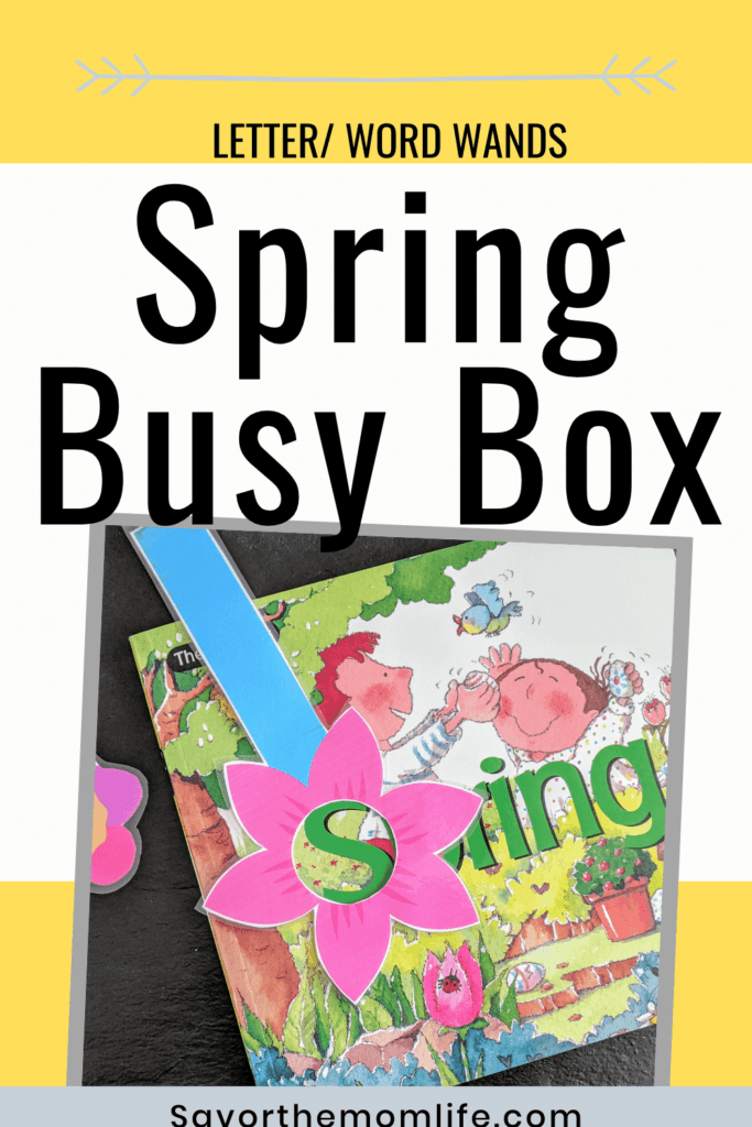 Letter/Word Wands. Spring Busy Box