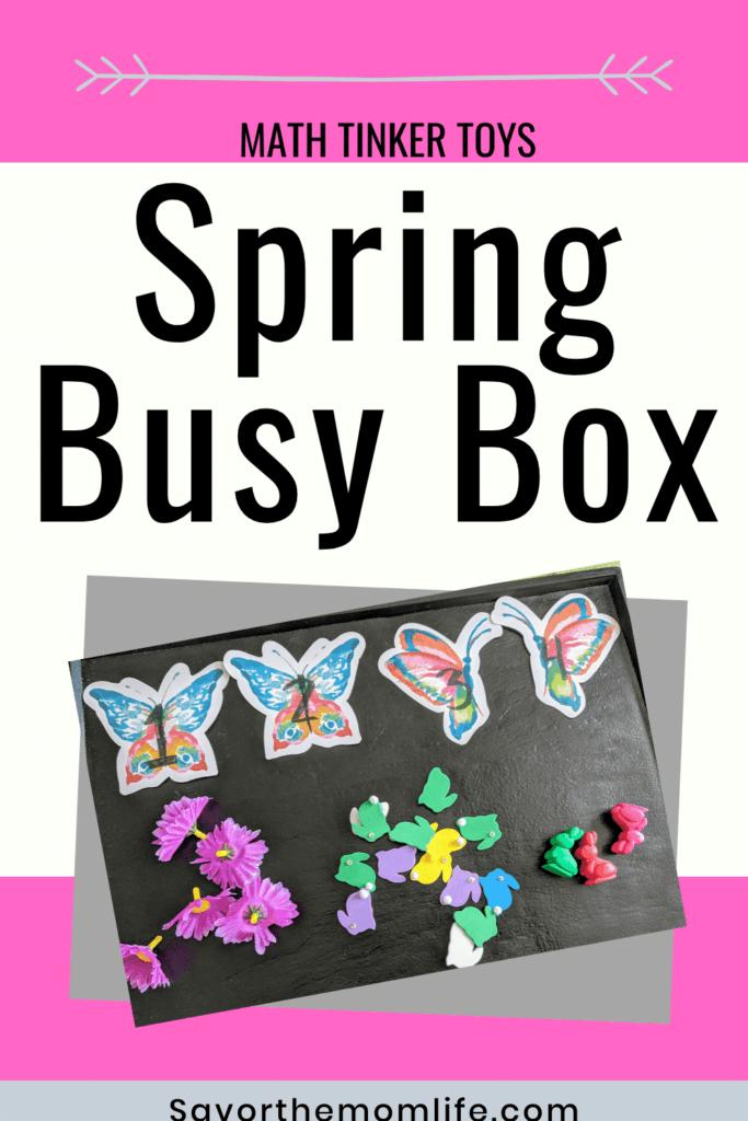 Math Tinker Toys. Spring Busy Box