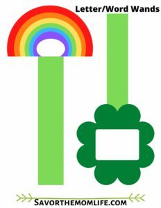 St. Patrick's Day Letter/ Word Wands